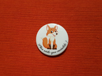 badge renard plus utile que nuisible