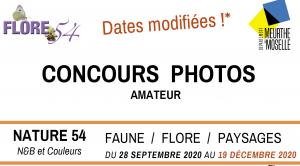 Concours photos FLORE 54 dates modifiées